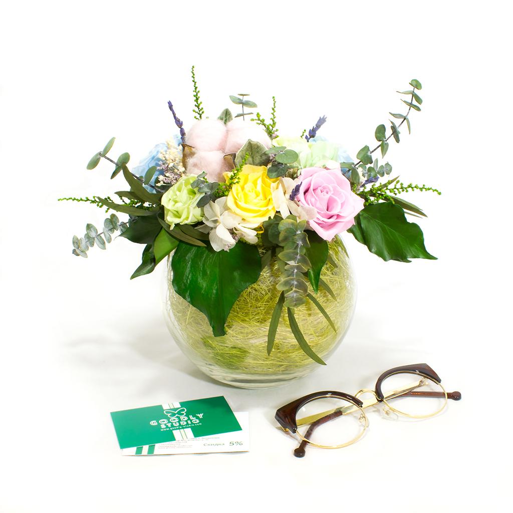 Букет из стабилизированных цветов - Бенита