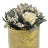 Букет из стабилизированных цветов живых купить роза ваза шар стеклянная композиция