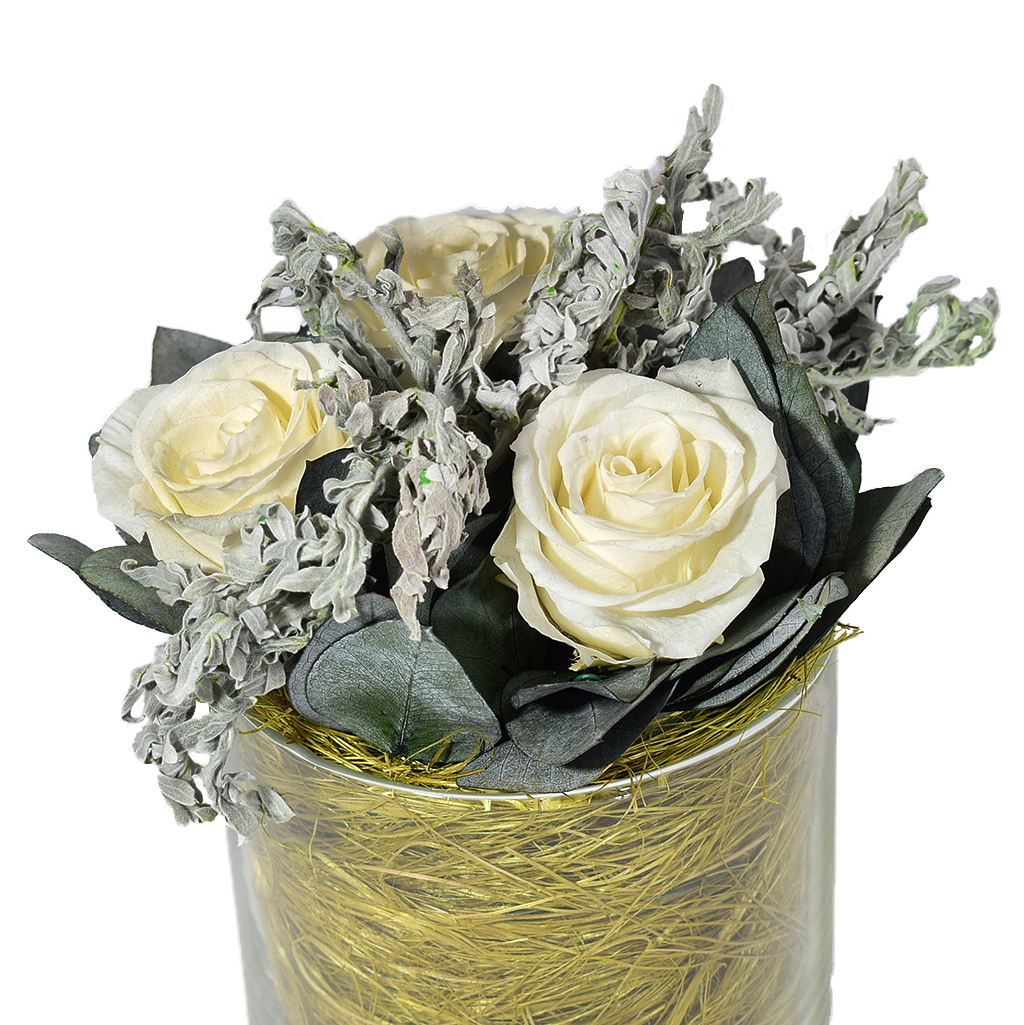 Букет из стабилизированных цветов - Нежность