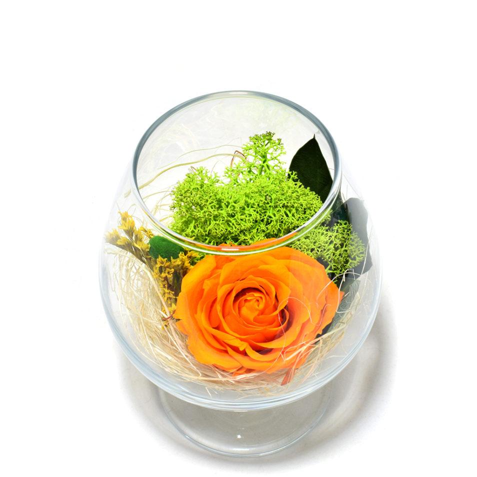 Цветы в бокале стеклянном стабилизированные композиции купить