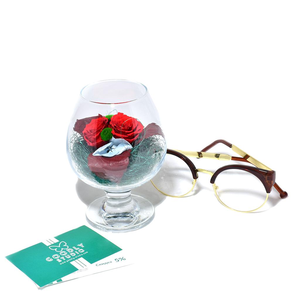 Стабилизированные цветы в стекле - Неро д'Авола