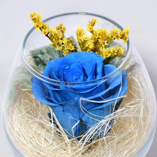 Стабилизированные цветы в стекле вечная роза бокал купить