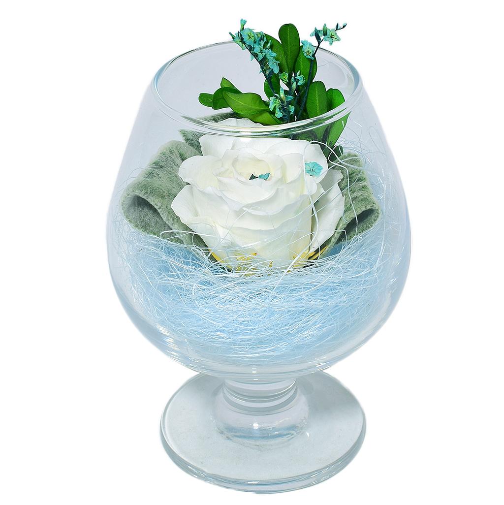 Стабилизированные цветы в стекле - Санторини