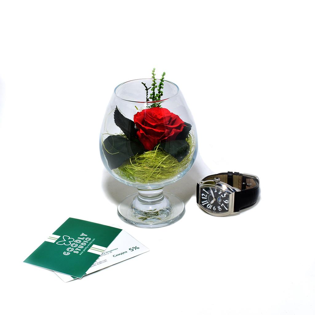 Стабилизированные цветы в стекле - La Rosa