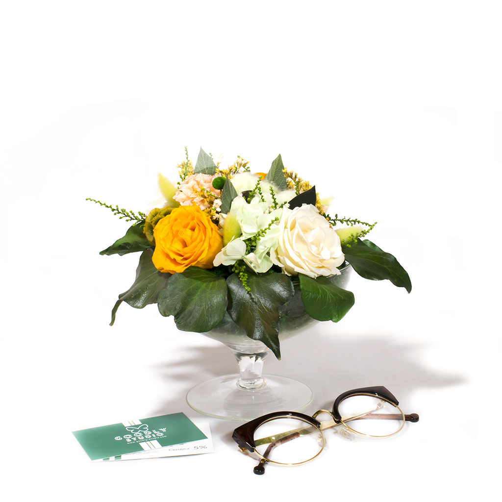 Букет из стабилизированных цветов - Беллини