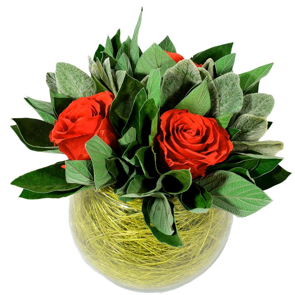 Букет из стабилизированных цветов - Rojo