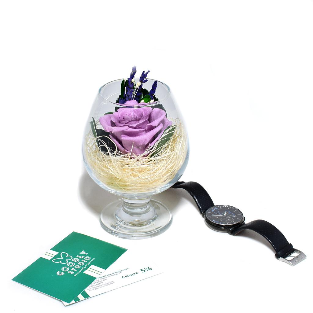 Стабилизированные цветы в стекле - Plum Jam