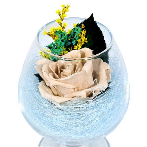 стабилизированные цветы в стекле купить композиции вечная роза живые
