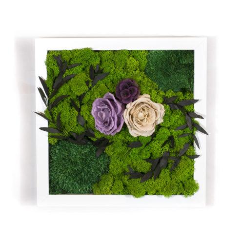 Панно на стену из цветов и мха настенное купить фото