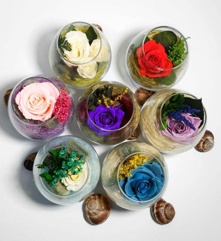 стабилизированные цветы подарок на долгую память купить