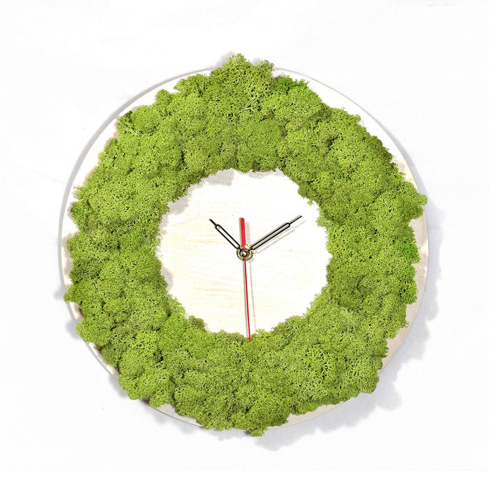 Настенные часы из дерева купить фото