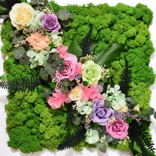 Панно из цветов на стену купить в Москве фото