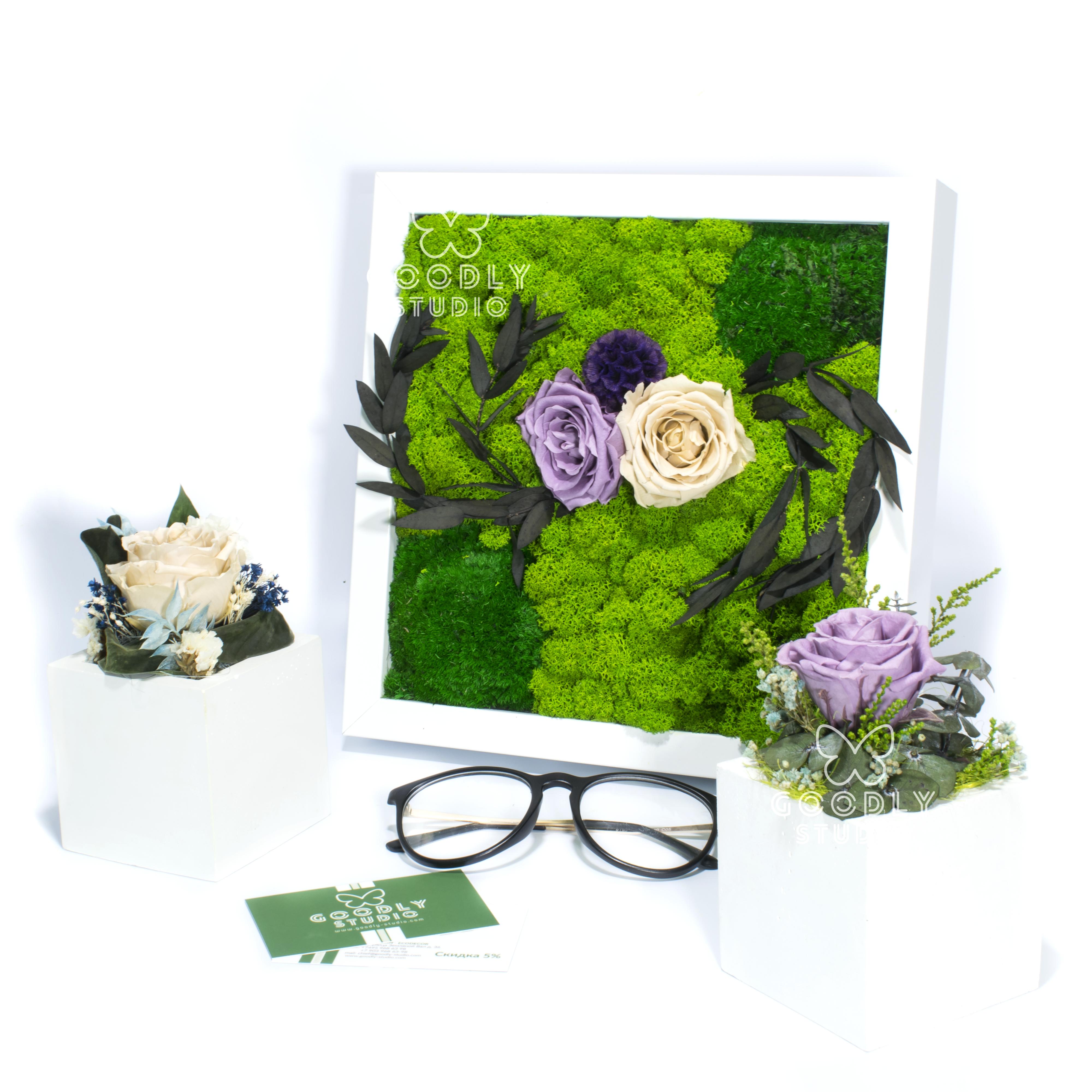 Картина и кашпо с цветами -15%
