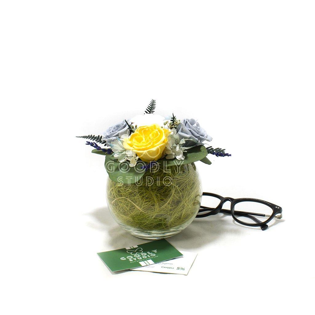 Букет из стабилизированных цветов - Пилигрим