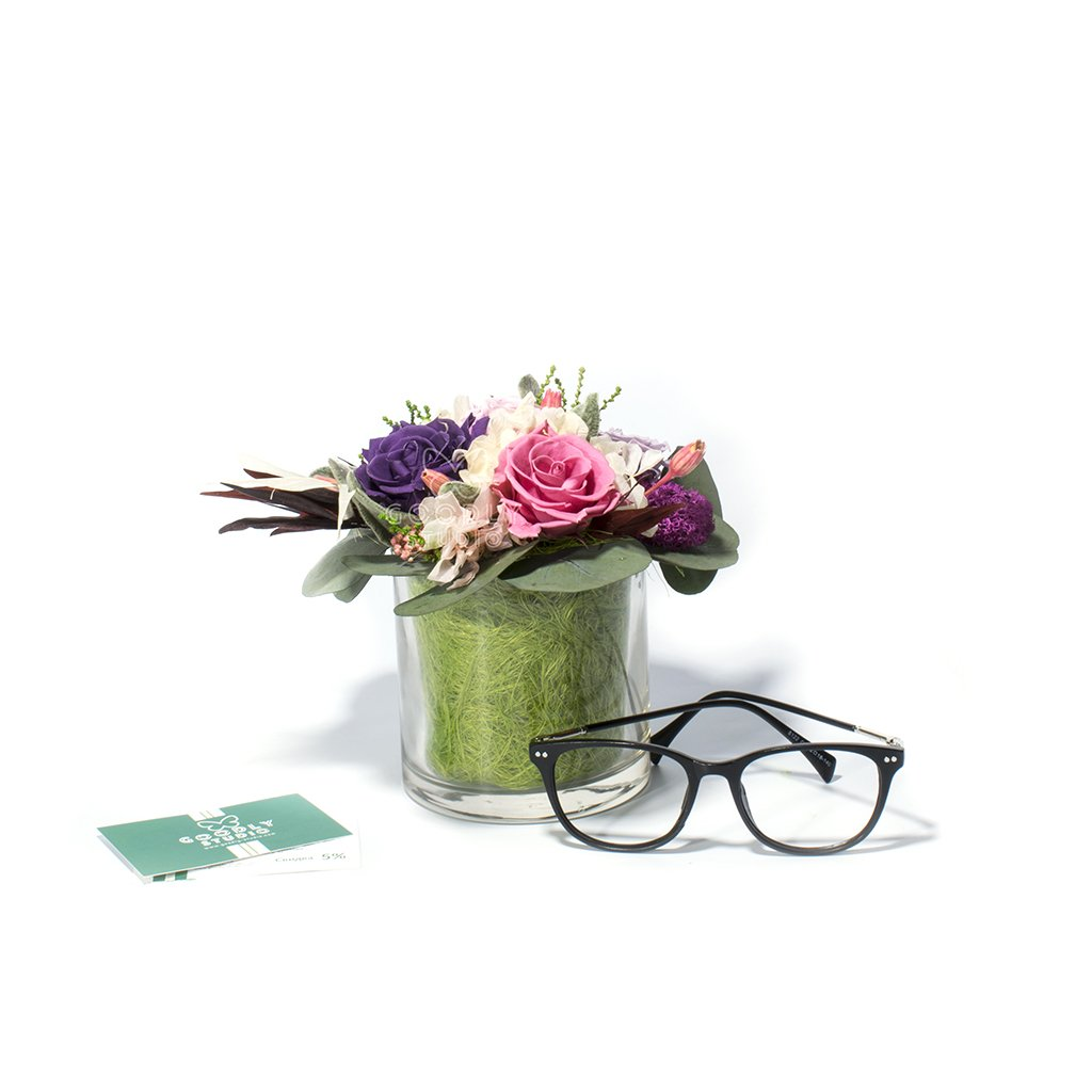 Букет из стабилизированных цветов - Lilas