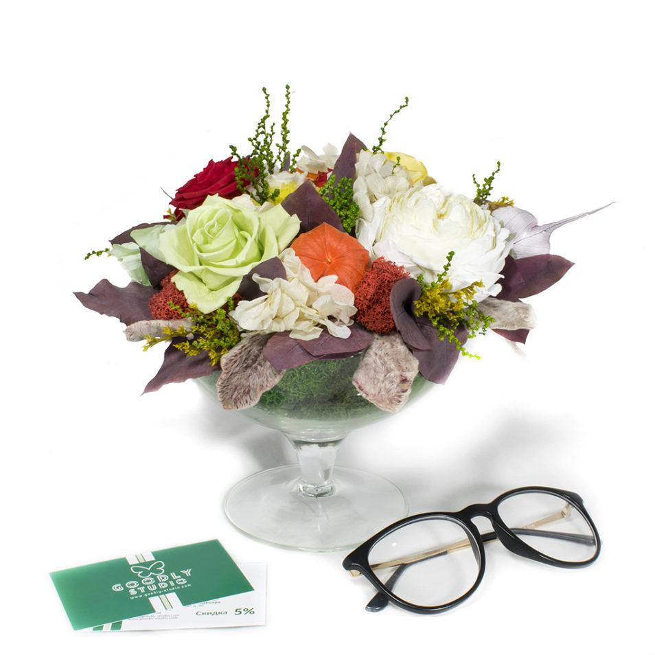 Композиции из стабилизированных цветов купить