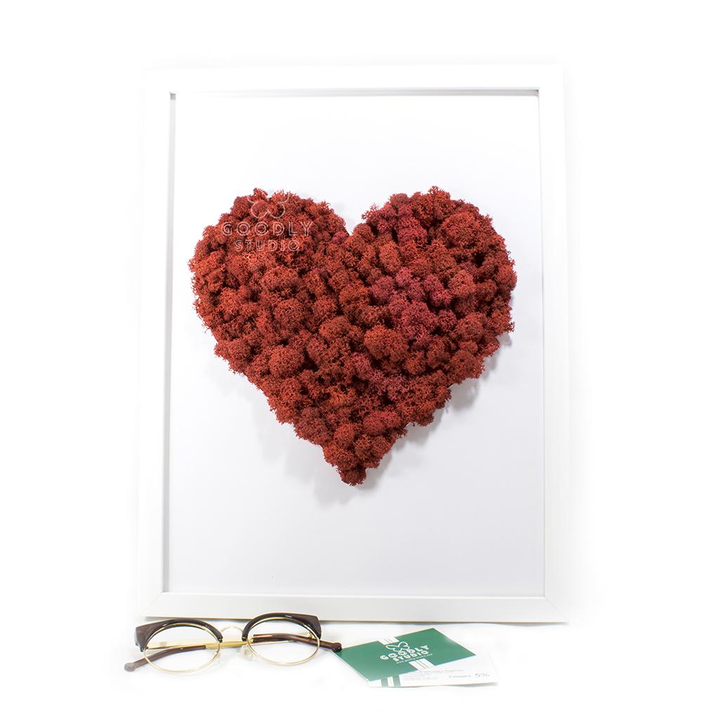 Moss art - Сердце