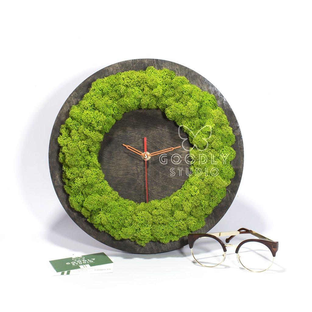 Часы из дерева и мха 2.0