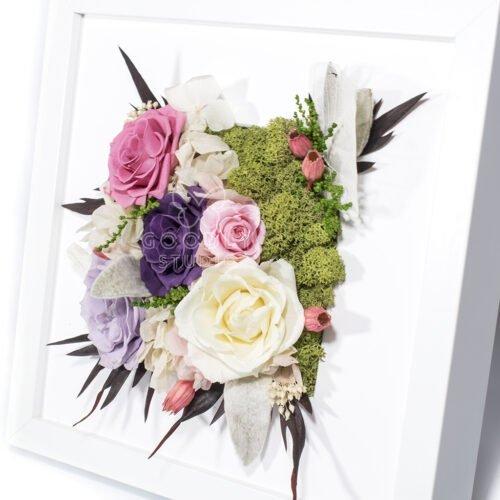 Панно из цветов и растений