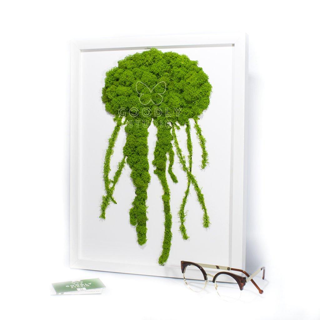 Moss art - Медуза