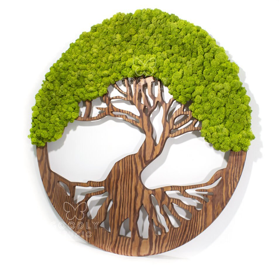 Панно дерево из мха