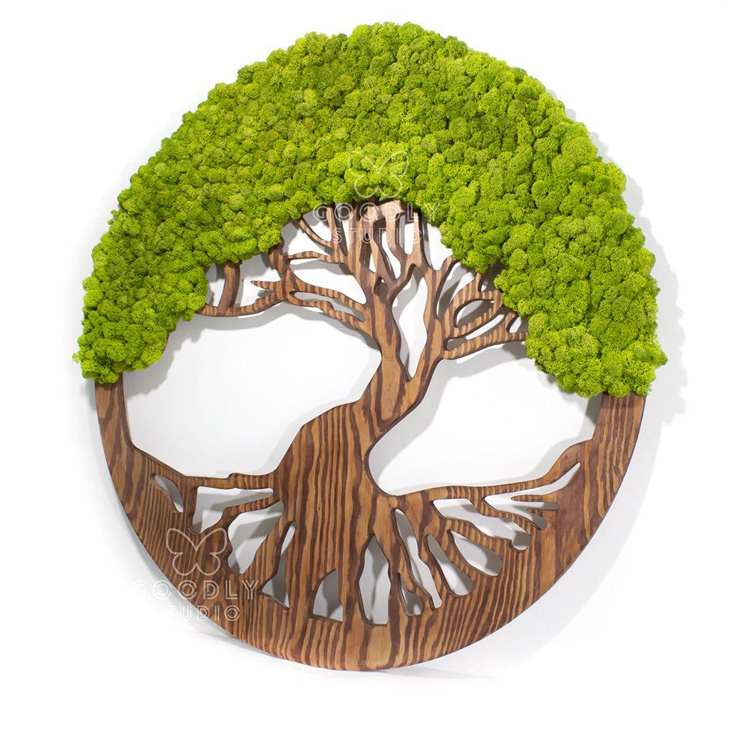 Панно - Дерево из мха