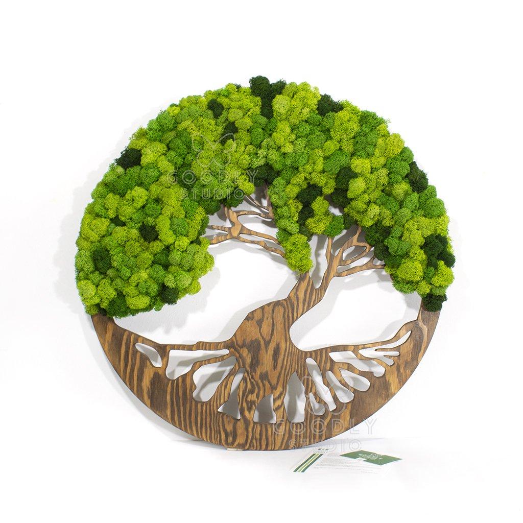 Панно - Дерево из мха 2.0 D-70 см.